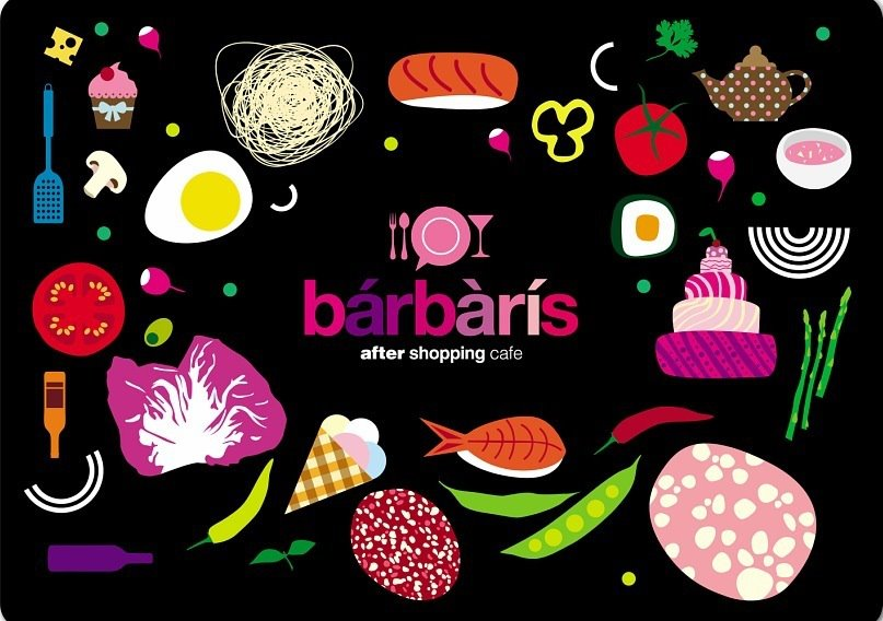 Barbaris after shopping cafe